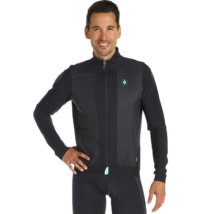 Details about  /Bianchi MILANO morbegno Cycling Winter Jacket Black show original title