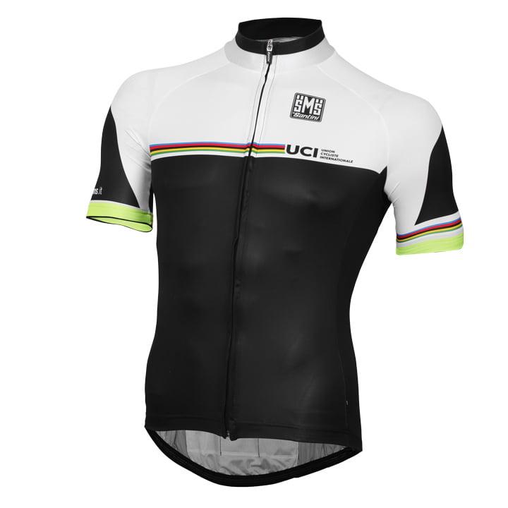 UCI WORLD CHAMPION LEADER Rainbow Line 17 Kurzarmtrikot, für Herren, Größe S, R