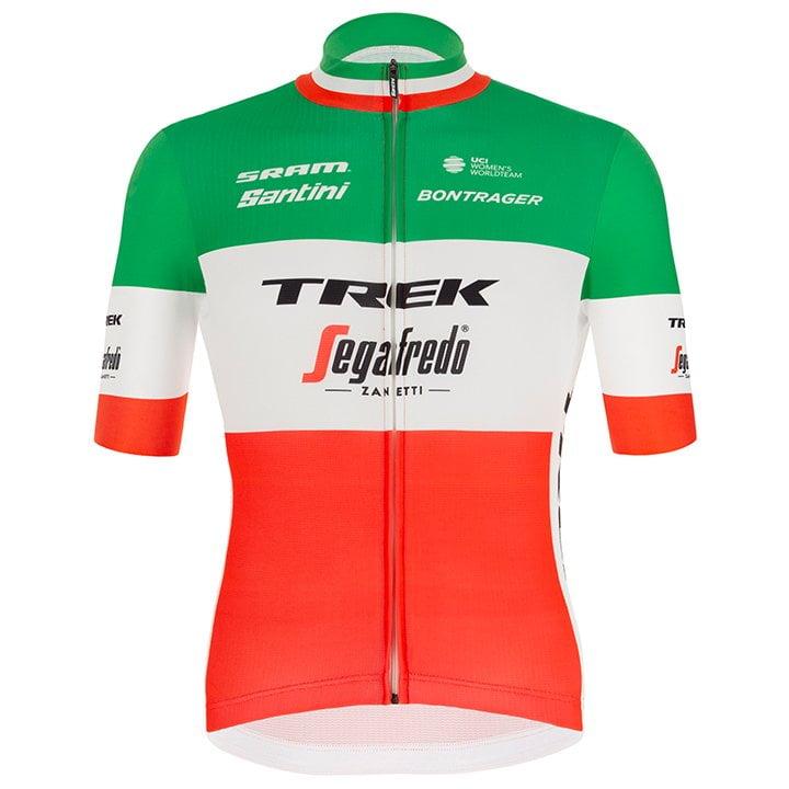 WHITE//RED Details about  /NEW 2021 Santini TREK SEGAFREDO FAN Short Sleeve Cycling Jersey