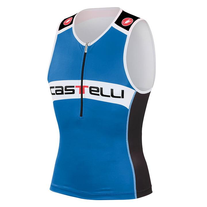 CASTELLI Core blau-schwarz Tri Top, für Herren, Größe S, Triathlon Top, Triathlo