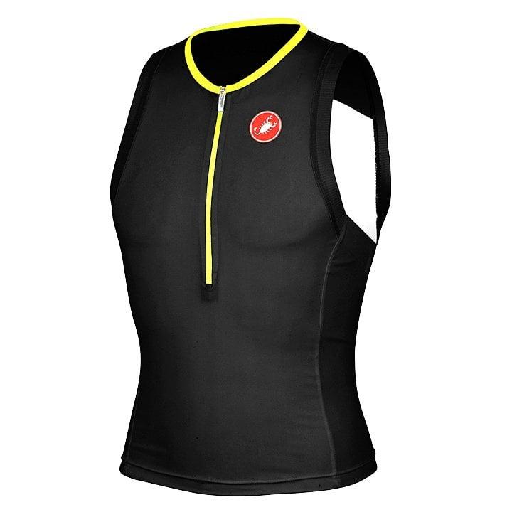 CASTELLI Free schwarz-neongelb Tri Top, für Herren, Größe S, Triathlon Top, Tria