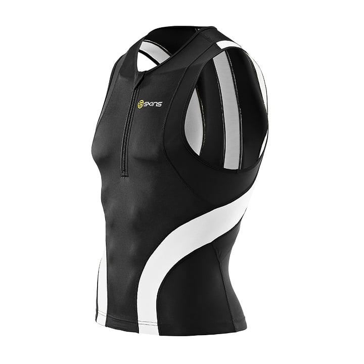SKINS Tri400 schwarz-weiß Tri Top, für Herren, Größe S, Triathlon Top, Triathlon